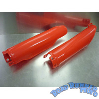 Fork slider covers red Honda