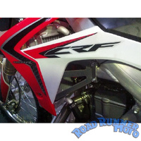 Force radiator guards silver Honda CRF 450 R CRF450R 4st EFI 2013-2014