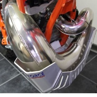 Force bash plate with Pipe guard Satin Silver KTM 250/300EXC 2st 2012-2013