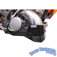 Force bash plate with Pipe guard Black suit PRO CIRCUIT pipe KTM 250 300 EXC 2st 2008-2011