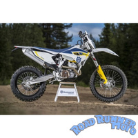 Force bash skid plate satin silver Husqvarna FE 350 FC350 2014-2016