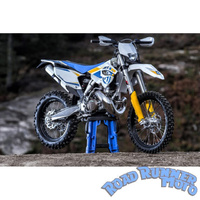 Force bash plate Pipe guard Black Suits FMF Gnarly Husqvarna TE 250/300 2st 14-16 KTM SX XC 250 300 12-16