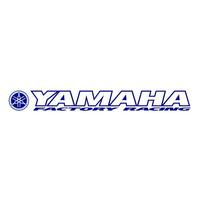 Sticker windscreen blue Yamaha Factory Racing 900mm x 100mm