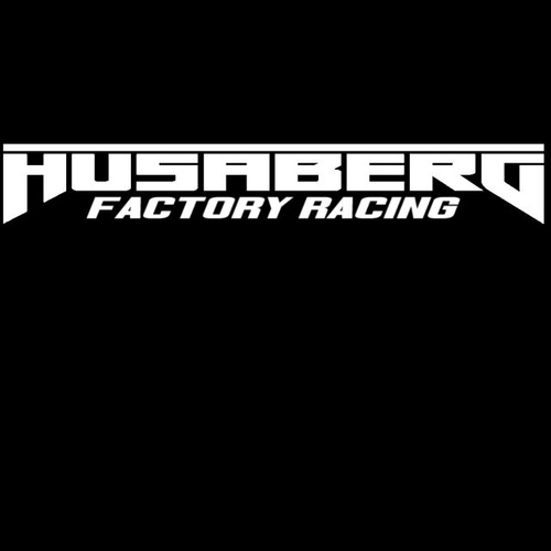 Sticker windscreen white Husaberg Factory Racing 900mm x 100mm